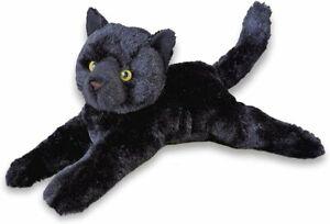 "Douglas Tug Black Cat Plush Toy Stuffed Animal Kitten 14"" Kitty Lying Floppy NEW"
