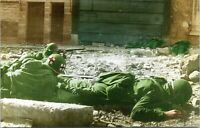 US Army Medic at Moselle River Europe WW2 Military Chrome Postcard 120