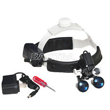 3.5X-R Dental Surgical Medical Headband Binocular Loupe with LED Headlight SALE
