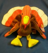 """Rare Retired ty Beanie Babies """"Gobbles"""" the Turkey with tag errors"""