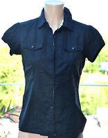 KAPORAL - Adorable chemise manches courtes noir - Taille S - EXCELLENT ÉTAT
