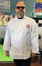 New Mercer Cutlery Culinard Student Unisex White Chef Coat Size 3 Xl