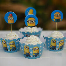 Despicable Me Minion cupcake wrappers pack of 12 Minion Birthday