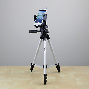 """50"""" tripod w/Cell Phone Holder fo Samsung Galaxy S3 S4 S5 iPhone 6 Plus smartpho"""