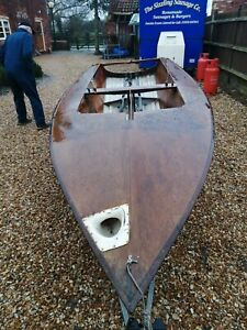 Mirror sailing dinghy good condition with  road and launch trailers