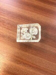 vintage brooch with white flower design