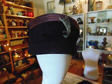 Women's winter hats 2 pill box style black faux fur navy blue classics accessory