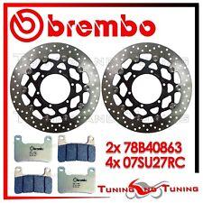 Dischi Freno Anteriore BREMBO + Pastiglie RACING RC SUZUKI GSX-R 1000 2009 2010
