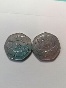 1973 50p Fifty Pence Coin EEC Joined Hands