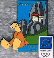 LE 2004 Athens Olympic Mascot See You in Greece Meteora Pin
