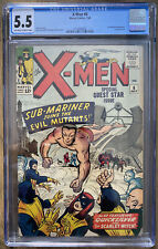 X-MEN #6, EARLY SUB-MARINER APPEARANCE! CGC 5.5!