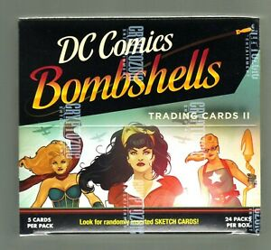 DC COMICS BOMBSHELLS SERIES 2 FACTORY SEALED BOX OF TRADING CARDS