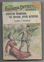 Inspector Henderson by Harrie Hancock [Eureka Detective Stories #1] Dime Novel