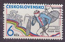 CZECHOSLOVAKIA 1987 USED SC#2640 World Cyclocross Championships, BOHEMIA