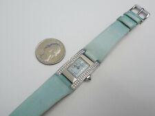 GENUINE CHAUMET FULL DIAMOND CASE & DIAL STAINKESS STEEL TANK LADIES WATCH