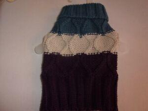 soft Nordic COLORBLOCK Dog Sweater XXS S L new pet Bond & Co xxsmall small