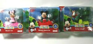 Fisher Price Mickey Mouse Clubhouse Mickey Minnie Goofy Figurine's & Car Choose