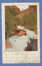 Vintage PC: In North Cheyenne Canon, Colorado. Close-up of a white water creek