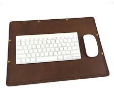 Marlondo Leather Desk Pad - Small Dark Brown Leather Blotter - BLEMISH SALE