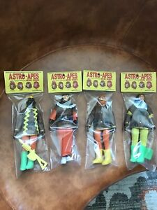 """Astro Apes - Set Of 4 Reproduction Set -  8"""" Action Figure BrentzDolz New"""
