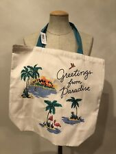 """NEW_Old Navy """"Greetings from Paradise""""_Canvas_Tote Bag_Vacation_Travel _Jetset"""