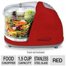 Brentwood Mini Food Chopper, Red, Small Appliances, Processor Cooking Cutting
