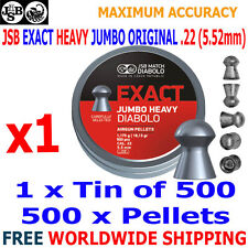 JSB EXACT HEAVY JUMBO ORIGINAL .22 5.52mm Airgun Pellets 1(tin)x500pcs