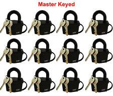 "12 Master Keyed Weather Resistant Padlocks 2-1/2"" 64mm"