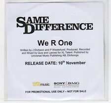 (EC943) Same Difference, We R One - DJ CD