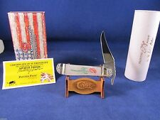 "2012 Case Proto ""0000"" Painted Pony ""RED ROSE"" Russlock Knife Pearl Mint In Case"