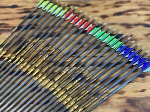 Gold Tip Hunter 340 Rage Edition Arrow 29.5in 2 Yellow 1 White Vanes 6PK
