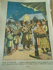 Noel en Pologne Poland Porteurs d'une étoile lumineuse Print 1935