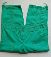 STYLE & CO Cropped Pants Size 10 Womens Green Stretch Cotton Cargo Capris