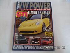 VW POWER N°11 HORS SERIE 07/2004 NEW BEETLE GOLF TURBO AUDI TT  GOLF III VR6  I5