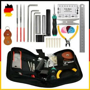 26stk Gitarre Reparatur Werkzeug Set Gitarren Reinigung Kit Wartung Pflegeset