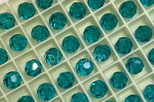 24Pcs SWAROVSKI Crystal Components  #5000 Faceted Round Beads 6mm in 40 Colors