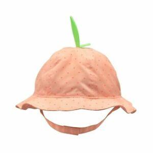 Goldbug Polka Dot Peach Sun Hat Toddler Girl 2T-4T NEW