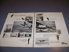 VINTAGE..1963 CESSNA 182 SKYLANE  ..2-PAGE SALES AD...RARE! (847R)