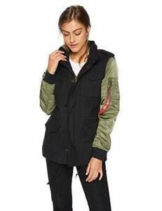 Alpha Industries Fusion Field Coat Black/Sage Size Womens Size Small