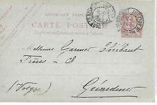 ENTIER  POSTAL  CARTE POSTALE  TYPE MOUCHON 1900