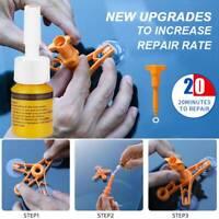 Windshield Repair Kit Stone Damage Car Wind Glass Bullseye Rock Chip Crack Star