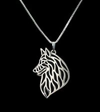 Belgium Shepherd Dog Pendant Necklace -  Fashion Jewellery - Silver Plated