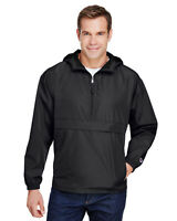 Champion Adult Packable Anorak 1/4 Zip Jacket 100% Polyester CO200 Top S-3XL