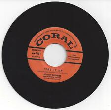 Johnny Burnette Trio 45-Tear It Up / You're Undecided-Coral 61651