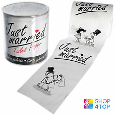 JUST MARRIED WEDDING TOILET PAPER LOO TISSUE ROLL BATHROOM ORIGINAL FUNNY GIFTS
