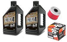 K&N oil filter & Maxima SynBlend 10W40 service kit Kawasaki KX450F 2005-2015