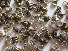 Charm Bail Hanger Beads Antique Silver Bronze Copper Jewellery Findings 50gr