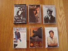Vince Gill Lot of 6 Cassette Tapes Great Condition Late 80's To Mid 90's