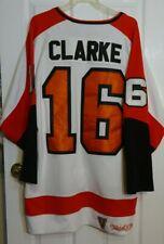 Authentic Philadelphia Flyers Bobby Clarke Mitchell & Ness White Jersey Size 52
