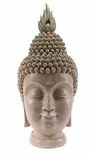 "Feng Shui 15"" Smiling Meditating Buddha Head Figurine Peace Statues Home Decor"